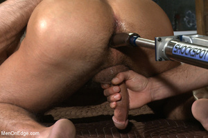 Muscled guy tied gets to suck cock as he - XXX Dessert - Picture 12