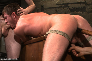 Guy roped down gets titillated with mout - XXX Dessert - Picture 9