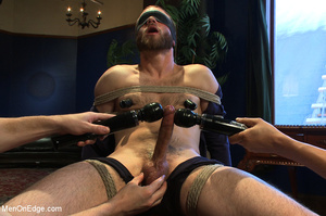 Guy tied to chair and then to bed gets h - XXX Dessert - Picture 2