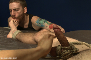 Guy tied to chair and then to bed gets h - XXX Dessert - Picture 5