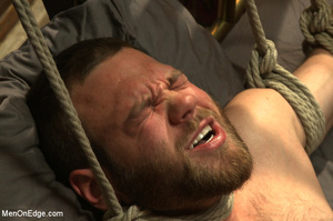 Guy tied to chair and then to bed gets h - XXX Dessert - Picture 6
