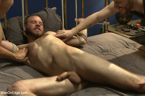 Guy tied to chair and then to bed gets h - XXX Dessert - Picture 7