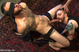 Guy tied to chair and then to bed gets h - XXX Dessert - Picture 10