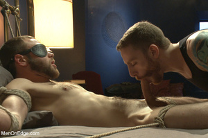 Guy tied to chair and then to bed gets h - XXX Dessert - Picture 12