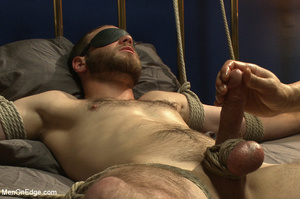 Guy tied to chair and then to bed gets h - XXX Dessert - Picture 13