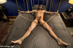 Guy tied to chair and then to bed gets h - XXX Dessert - Picture 14