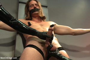 Cute guy strapped down is squeezed, stok - XXX Dessert - Picture 4