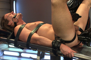Cute guy strapped down is squeezed, stok - XXX Dessert - Picture 5