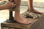 kinky bondage stud gets