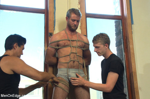 Horny guy strapped and bound gets ass fu - XXX Dessert - Picture 1