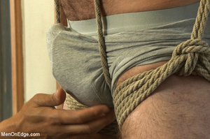 Horny guy strapped and bound gets ass fu - XXX Dessert - Picture 2