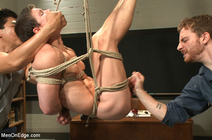Hot stud roped and hung in class gets hi - XXX Dessert - Picture 8