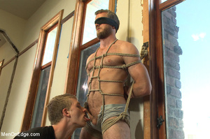 Horny guy strapped and bound gets ass fu - XXX Dessert - Picture 3
