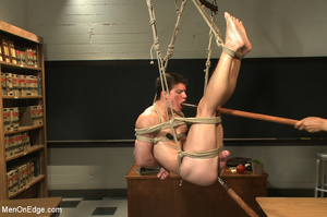 Hot stud roped and hung in class gets hi - XXX Dessert - Picture 9