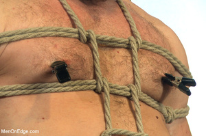 Horny guy strapped and bound gets ass fu - XXX Dessert - Picture 4