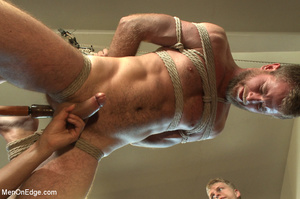 Horny guy strapped and bound gets ass fu - XXX Dessert - Picture 8