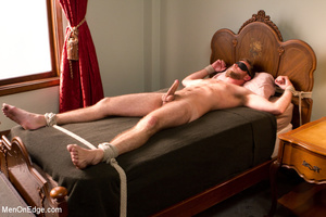 Horny guy strapped and bound gets ass fu - XXX Dessert - Picture 12