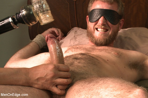 Horny guy strapped and bound gets ass fu - XXX Dessert - Picture 13