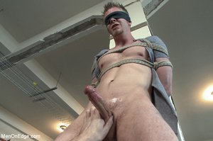 Nude guy strapped and sucked on nipples  - XXX Dessert - Picture 3