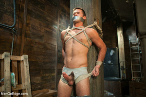 Blindfolded guy hung with ropes gets his - XXX Dessert - Picture 5