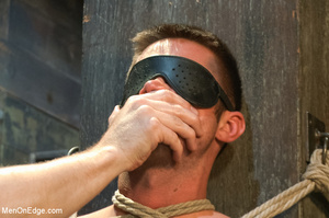 Blindfolded guy hung with ropes gets his - XXX Dessert - Picture 6