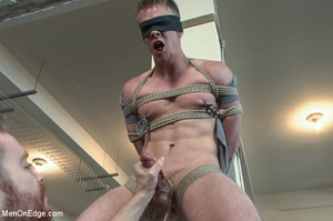 Nude guy strapped and sucked on nipples  - XXX Dessert - Picture 6