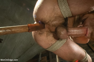 Blindfolded guy hung with ropes gets his - XXX Dessert - Picture 10