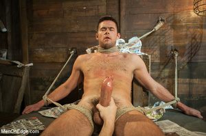 Blindfolded guy hung with ropes gets his - XXX Dessert - Picture 14