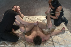 Nude guy strapped and sucked on nipples  - XXX Dessert - Picture 14
