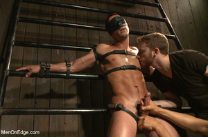 Slim sexy dude gets racked and bound wit - XXX Dessert - Picture 1