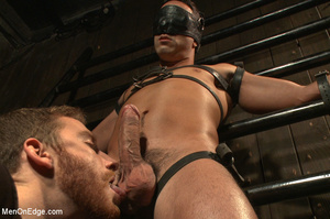 Slim sexy dude gets racked and bound wit - XXX Dessert - Picture 2