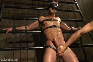 Slim sexy dude gets racked and bound wit - XXX Dessert - Picture 3