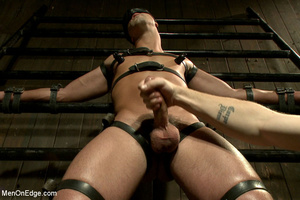 Slim sexy dude gets racked and bound wit - XXX Dessert - Picture 4
