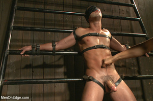 Slim sexy dude gets racked and bound wit - XXX Dessert - Picture 5