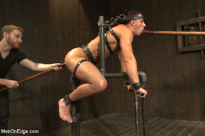 Slim sexy dude gets racked and bound wit - XXX Dessert - Picture 7