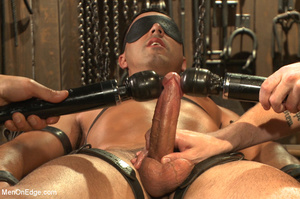 Slim sexy dude gets racked and bound wit - XXX Dessert - Picture 12