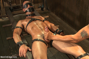 Slim sexy dude gets racked and bound wit - XXX Dessert - Picture 13