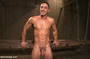 Slim sexy dude gets racked and bound wit - XXX Dessert - Picture 15