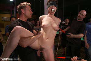 Nude blindfolded chick fucked with pool  - XXX Dessert - Picture 3