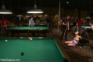Nude blindfolded chick fucked with pool  - XXX Dessert - Picture 4