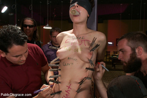 Nude blindfolded chick fucked with pool  - XXX Dessert - Picture 5
