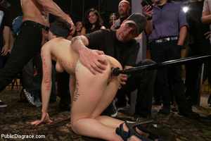 Nude blindfolded chick fucked with pool  - XXX Dessert - Picture 9