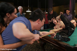 Nude blindfolded chick fucked with pool  - XXX Dessert - Picture 11