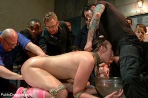 Hot babe sucks cock in public, gets tied - XXX Dessert - Picture 8