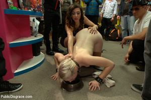 Blonde treated as a dog in public then a - XXX Dessert - Picture 3