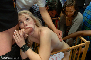 Blonde treated as a dog in public then a - XXX Dessert - Picture 10