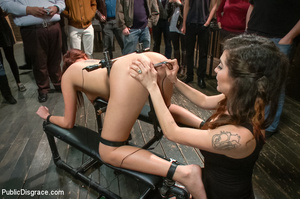 Blonde and brunette bound and poked with - XXX Dessert - Picture 9
