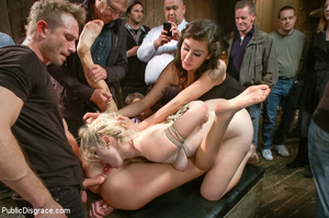Blonde and brunette bound and poked with - XXX Dessert - Picture 14