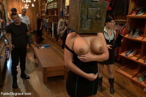 Nude blonde gets box on head as she assa - XXX Dessert - Picture 1