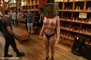 Nude blonde gets box on head as she assa - XXX Dessert - Picture 2